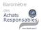 Baromètre des Achats Responsables - Facilities, site du Facility management